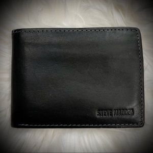 Steve Madden Genuine Black Leather Wallet